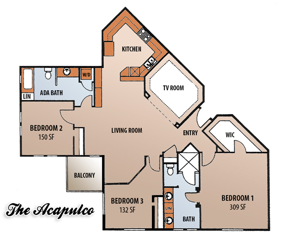 Floor Plans - The Acapulco