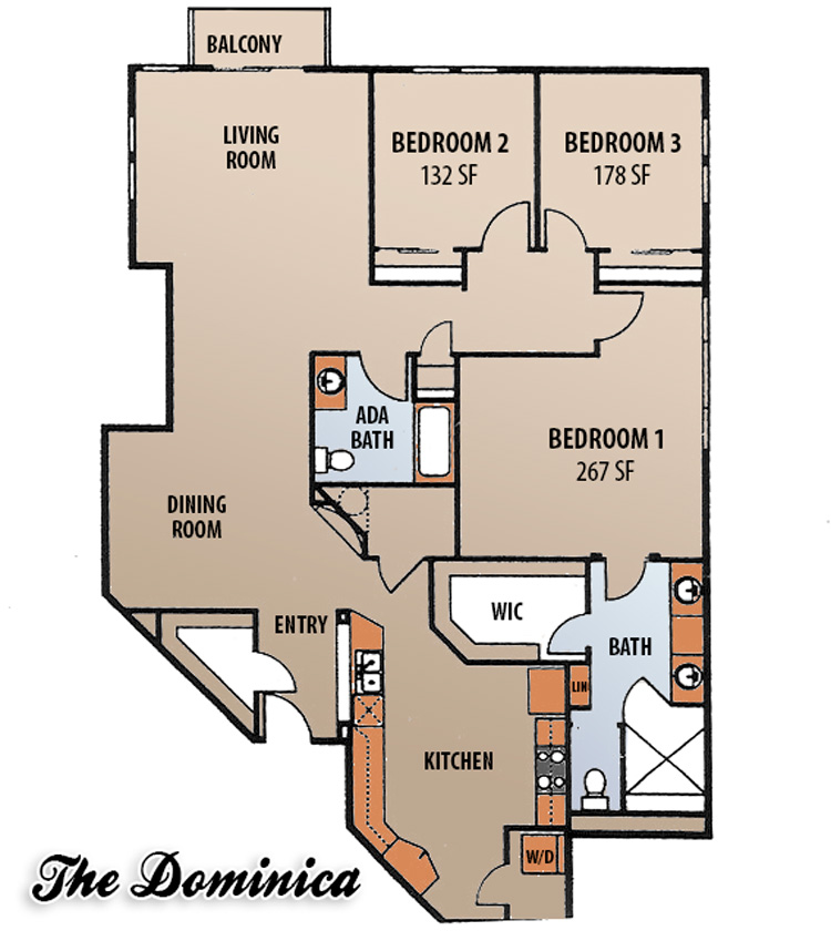 Floor Plans - The Dominica